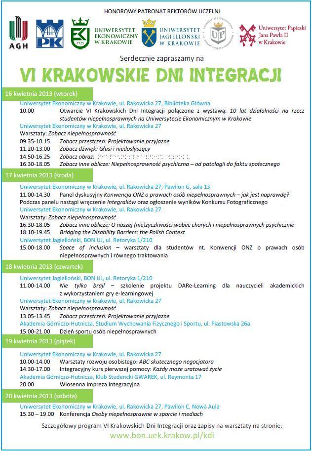 VI KDI - zaproszenie
