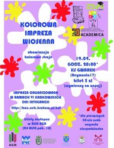 plakat kolorowa impreza wiosenna KDI