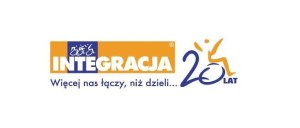 """grafika - Logo Integracja 20 lat z podpisem """"więcej nas łączy niż dzieli"""""""