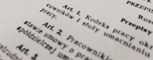 wycinek tekstu prawnego