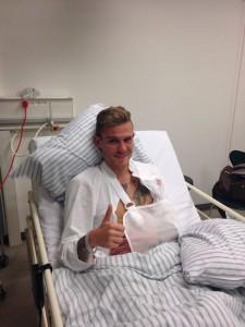Martin Vaculik po operacji obojczyka